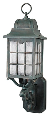 Melissa 600 Series 1-Light Outdoor Sconce; Aged Silver