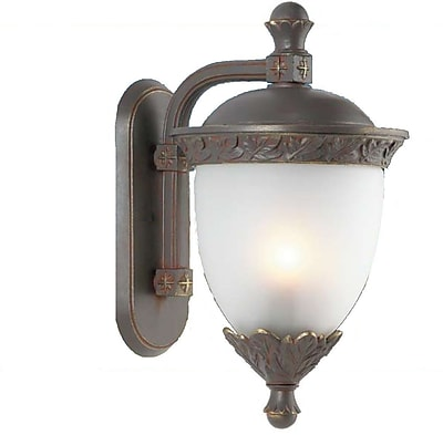 Melissa Tuscany 3-Light Outdoor Wall Lantern; Patina Bronze
