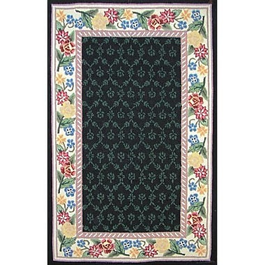 American Home Rug Co. Bucks County Black/Ivory Damask Area Rug; Runner 2'6'' x 6'