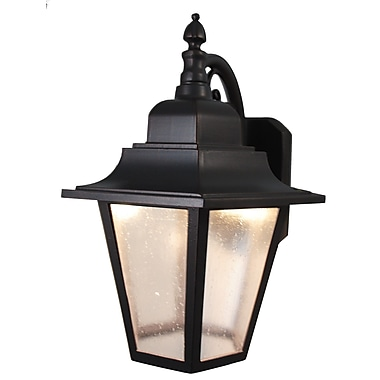 Melissa Kiss Series 1-Light Outdoor Wall Lantern; Black