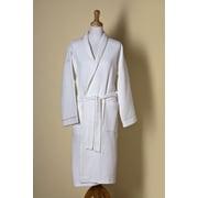 Jacaranda Living Waffle Weave Shawl Collar Bath Robe; Medium