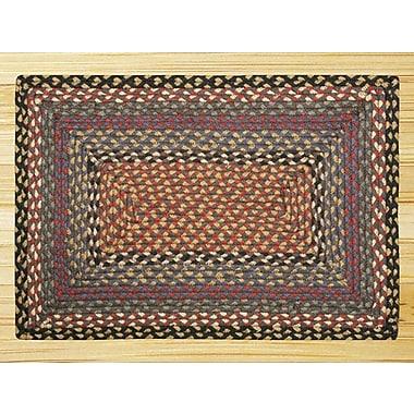 EarthRugs Burgundy/Blue/Gray Braided Area Rug; 1'8'' x 2'6''
