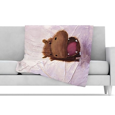 KESS InHouse The Happy Hippo Fleece Throw Blanket; 60'' L x 50'' W