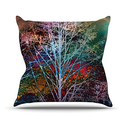 KESS InHouse Trees in the Night Throw Pillow; 18'' H x 18'' W