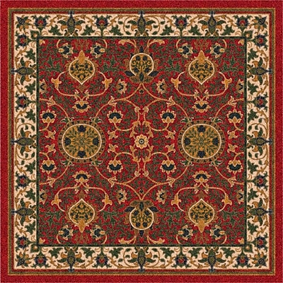 Milliken Pastiche Sumero Indian Red Area Rug; Rectangle 5'4'' x 7'8''
