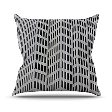 KESS InHouse The Grid Throw Pillow; 20'' H x 20'' W