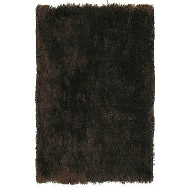 LA Rugs Super Shag Brown Area Rug; 5' x 8'