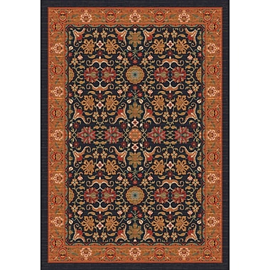 Milliken Pastiche Kamil Ebony Folk/Tribal Rug; Rectangle 5'4'' x 7'8''
