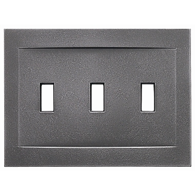 RQ Home Triple Toggle Magnetic Wall Plate; Wrought Iron