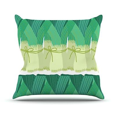 KESS InHouse Leeks Throw Pillow; 18'' H x 18'' W