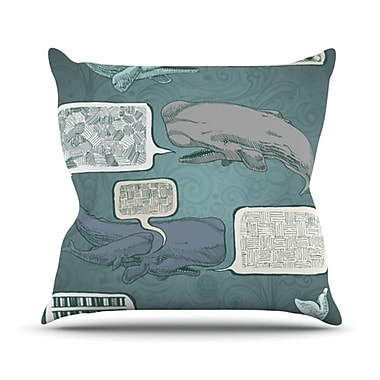 KESS InHouse Whale Talk Throw Pillow; 18'' H x 18'' W