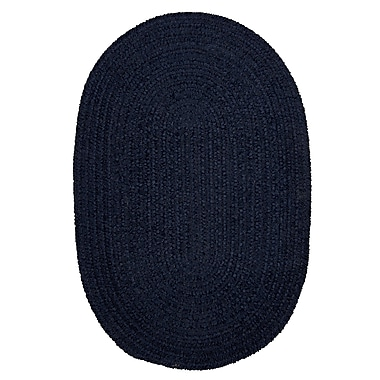 Colonial Mills Spring Meadow Navy Area Rug; Oval Runner 2' x 8'