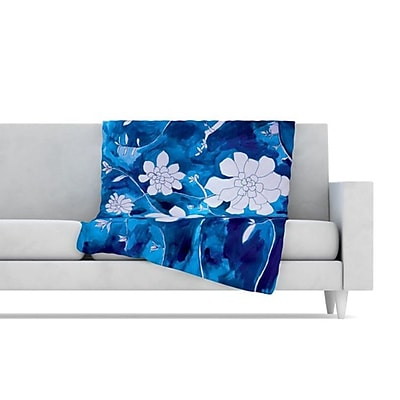 KESS InHouse Succulent Dance 1 Fleece Throw Blanket; 60'' L x 50'' W