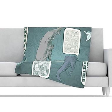 KESS InHouse Whale Talk Fleece Throw Blanket; 40'' L x 30'' W
