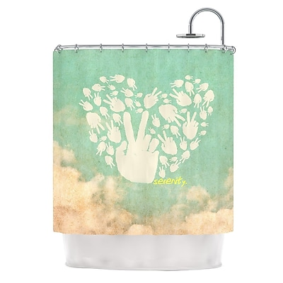 KESS InHouse Serenity Shower Curtain