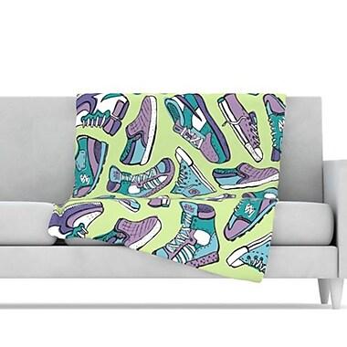 KESS InHouse Sneaker Lover IV Throw Blanket; 40'' L x 30'' W