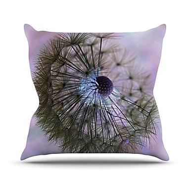 KESS InHouse Dandelion Clock Throw Pillow; 16'' H x 16'' W