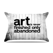 KESS InHouse Art Never Finished Pillowcase; Standard