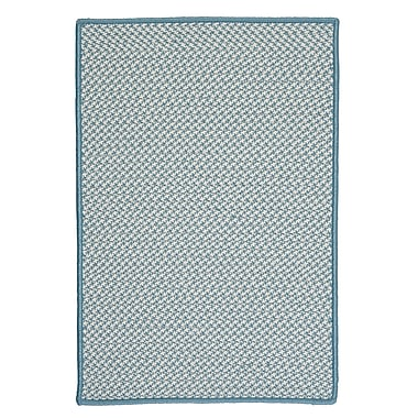Colonial Mills Outdoor Houndstooth Tweed Sea Blue Area Rug; Square 4'