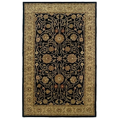 Continental Rug Company Meadow Breeze Black Border Rug; Rectangle 8' x 11'