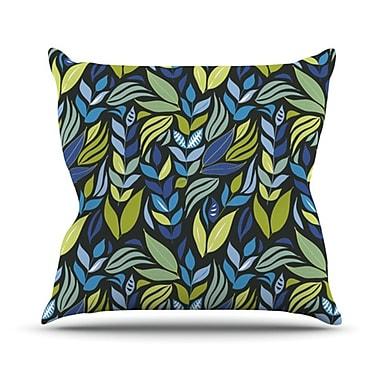 KESS InHouse Underwater Bouquet Night Throw Pillow; 18'' H x 18'' W