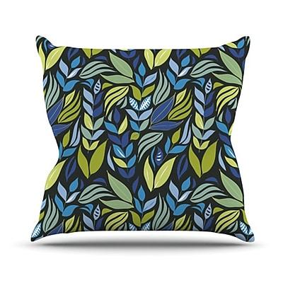 KESS InHouse Underwater Bouquet Night Throw Pillow; 26'' H x 26'' W