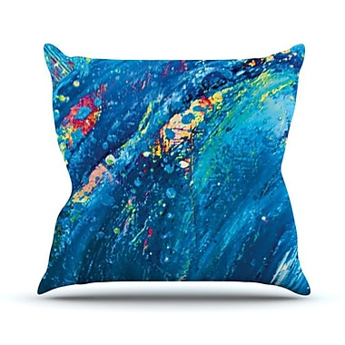KESS InHouse Big Wave Throw Pillow; 26'' H x 26'' W