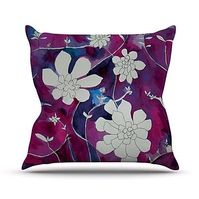 KESS InHouse Succulent Dance III Throw Pillow; 18'' H x 18'' W