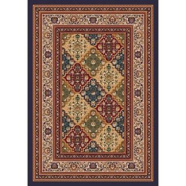 Milliken Pastiche Kashmiran Tournai Black Currant Area Rug; Rectangle 5'4'' x 7'8''