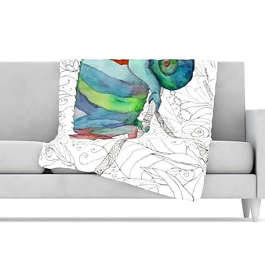 KESS InHouse Chameleon Fail Throw Blanket; 80'' L x 60'' W