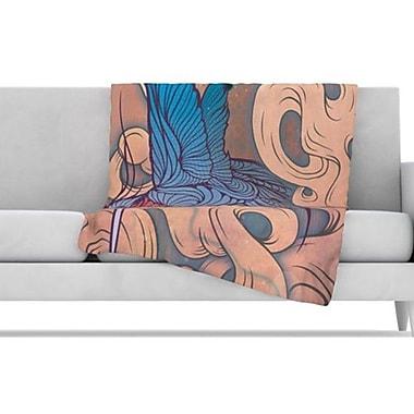 KESS InHouse Aerialism Fleece Throw Blanket; 60'' L x 50'' W