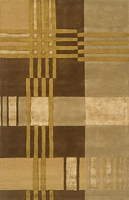 Continental Rug Company Edge Light Brown Area Rug; 8' x 11'