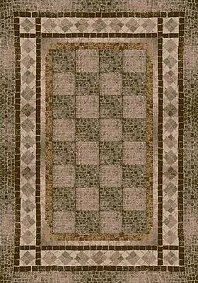 Milliken Innovation Khaki Flagler Area Rug; Square 7'7''