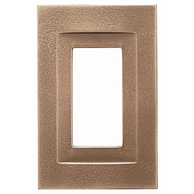 RQ Home Single GFCI Magnetic Wall Plate; Classic Bronze
