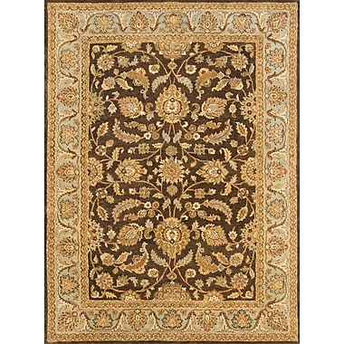 Continental Rug Company Meadow Breeze Brown/Light Spruce Rug; Rectangle 2' x 3'