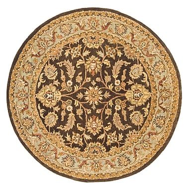 Continental Rug Company Meadow Breeze Brown/Light Spruce Rug; Round 6'