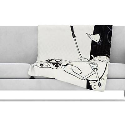 KESS InHouse Number 5 Fleece Throw Blanket; 80'' L x 60'' W