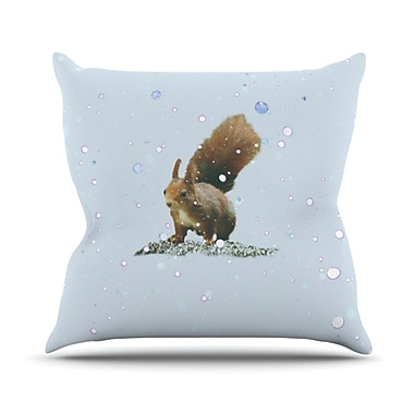 KESS InHouse Squirrel Throw Pillow; 26'' H x 26'' W
