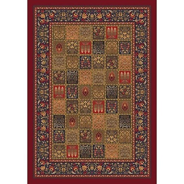 Milliken Pastiche Kashmiran Pristina Midnight Red Area Rug; Rectangle 7'8'' x 10'9''