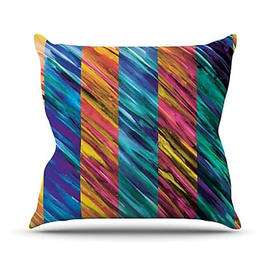 KESS InHouse Set Stripes I Throw Pillow; 26'' H x 26'' W