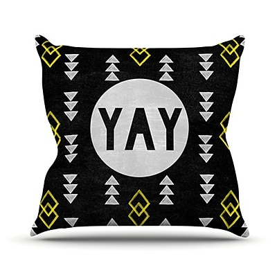 KESS InHouse Yay Throw Pillow; 18'' H x 18'' W