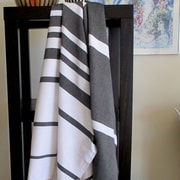 Scents and Feel Striped Fouta Towel; Black / White