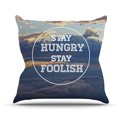 KESS InHouse Stay Hungry Throw Pillow; 18'' H x 18'' W