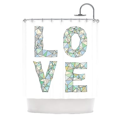 KESS InHouse Four Letter Word Shower Curtain