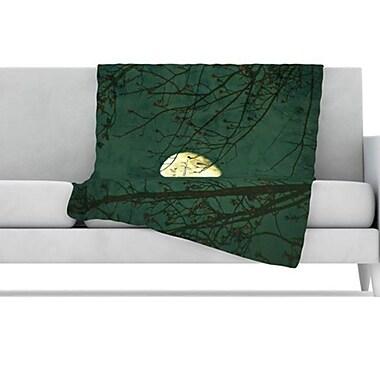 KESS InHouse Kiss Me Goodnight Fleece Throw Blanket; 40'' L x 30'' W