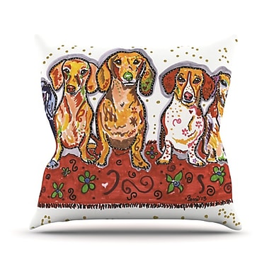 KESS InHouse Maksim Murray Enzo Ruby & Willy Throw Pillow; 26'' H x 26'' W