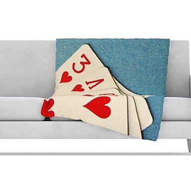 KESS InHouse Love Fleece Throw Blanket; 40'' L x 30'' W