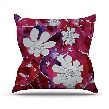 KESS InHouse Succulent Dance II Throw Pillow; 18'' H x 18'' W