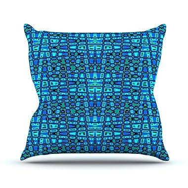 KESS InHouse Variblue Throw Pillow; 26'' H x 26'' W