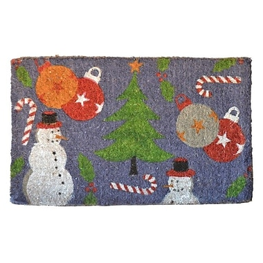 Imports Decor Woven Holiday Spirit Doormat; Rectangle 30'' x 18''